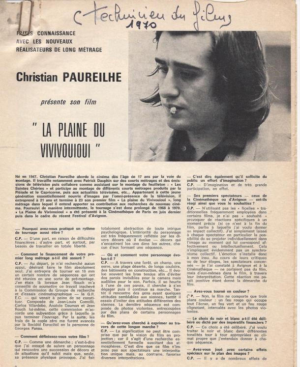 Christian présente La plaine
